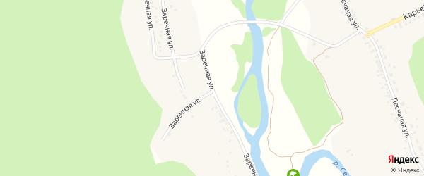 Заречная улица на карте села Новой Таволжанки с номерами домов