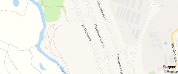 Улица Серикова на карте села Новой Таволжанки с номерами домов