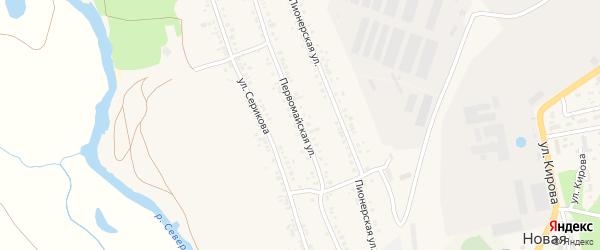 Первомайская улица на карте села Новой Таволжанки с номерами домов