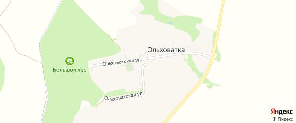 Ольховатская улица на карте хутора Ольховатки с номерами домов