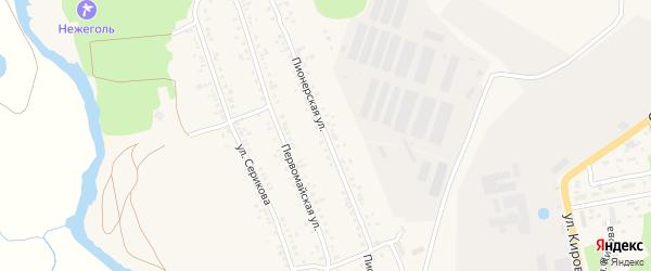 Пионерская улица на карте села Новой Таволжанки с номерами домов