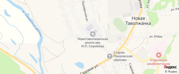 Харьковская улица на карте села Новой Таволжанки с номерами домов