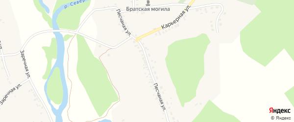 Песчаная улица на карте села Новой Таволжанки с номерами домов