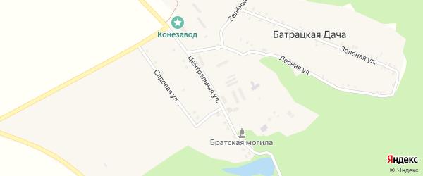 Центральная улица на карте поселка Батрацкой Дачи с номерами домов