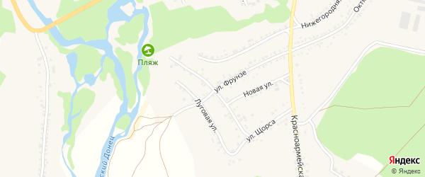 Комсомольская улица на карте села Новой Таволжанки с номерами домов
