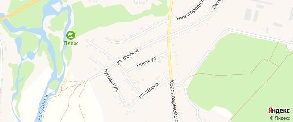 Новая улица на карте села Новой Таволжанки с номерами домов