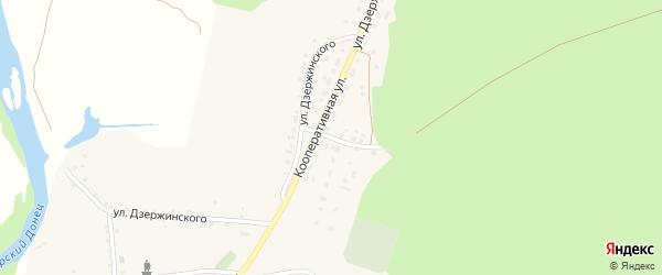 Кооперативная улица на карте села Новой Таволжанки с номерами домов