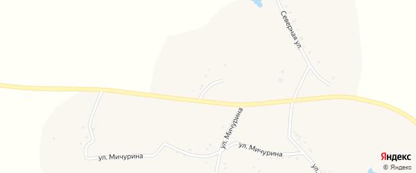 Луговой переулок на карте села Верхнего Ольшанца с номерами домов