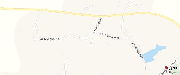 Улица Мичурина на карте села Верхнего Ольшанца с номерами домов