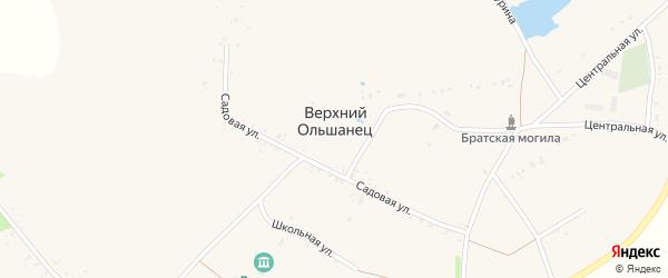 Колхозная улица на карте села Верхнего Ольшанца с номерами домов