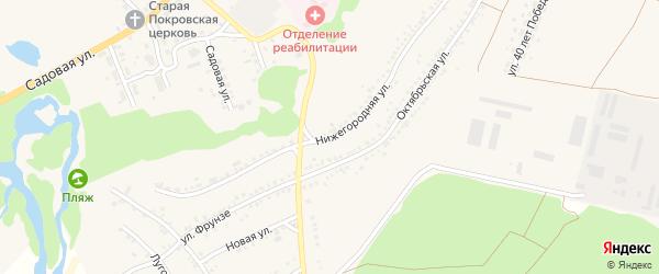 Нижегородняя улица на карте села Новой Таволжанки с номерами домов