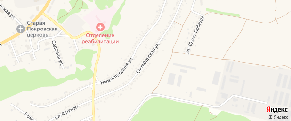 Октябрьская улица на карте села Новой Таволжанки с номерами домов
