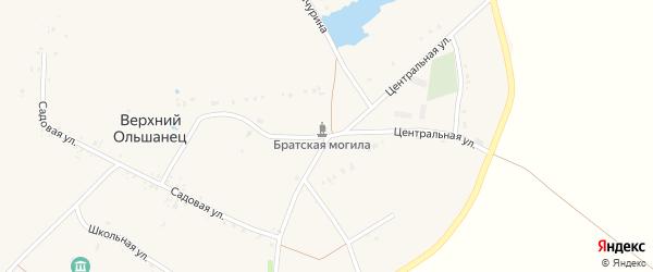 Центральная улица на карте села Верхнего Ольшанца с номерами домов