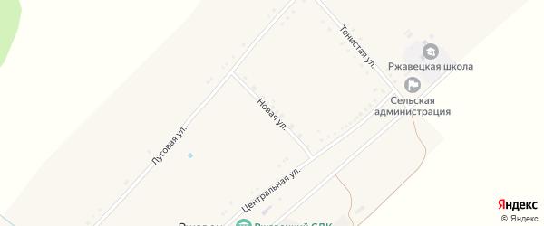 Новая улица на карте села Ржавца с номерами домов