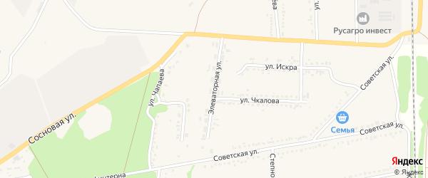 Элеваторная улица на карте села Новой Таволжанки с номерами домов