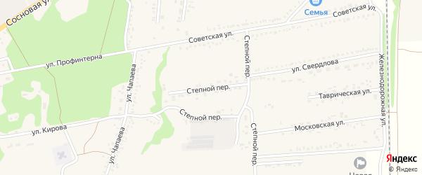 Степной переулок на карте села Новой Таволжанки с номерами домов