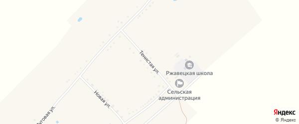 Тенистая улица на карте села Ржавца с номерами домов