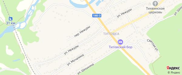 Улица Нежуры на карте Шебекино с номерами домов