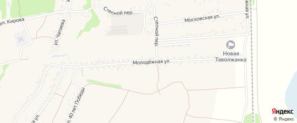 Молодежная улица на карте села Новой Таволжанки с номерами домов