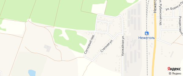 Сосновый переулок на карте Шебекино с номерами домов