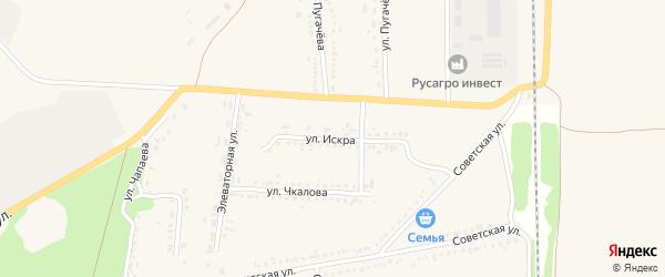 Улица Искра на карте села Новой Таволжанки с номерами домов