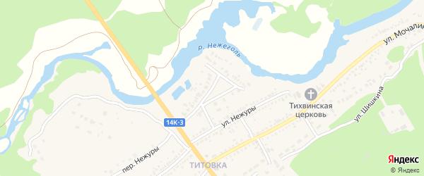 Переулок Нежуры на карте Шебекино с номерами домов