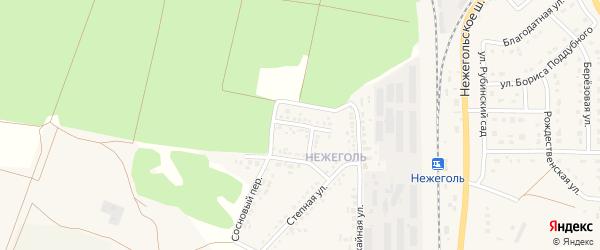 Сосновая улица на карте Шебекино с номерами домов