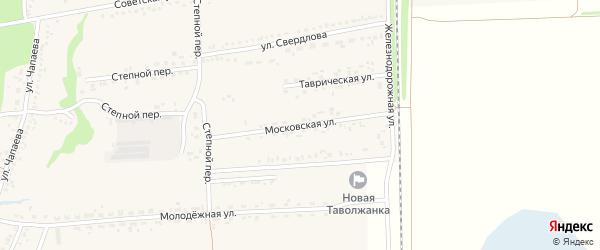 Московская улица на карте села Новой Таволжанки с номерами домов