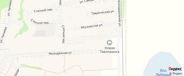 Железнодорожная улица на карте села Новой Таволжанки с номерами домов