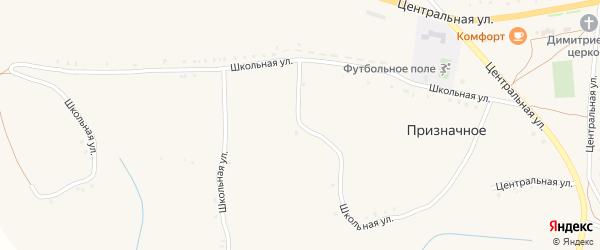 Школьная улица на карте Призначного села с номерами домов