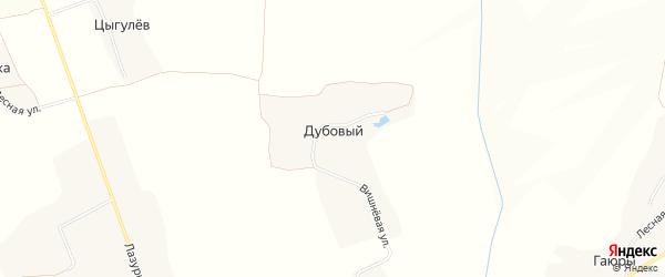 Карта Дубового хутора в Белгородской области с улицами и номерами домов