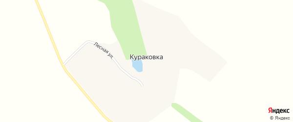 Лесная улица на карте хутора Кураковки с номерами домов