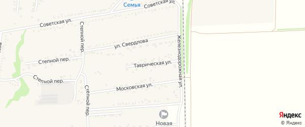 Таврическая улица на карте села Новой Таволжанки с номерами домов