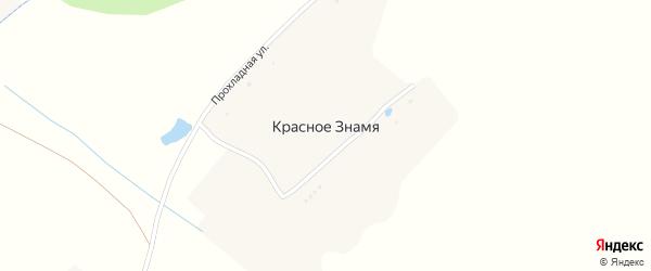 Прохладная улица на карте хутора Красного Знамени с номерами домов