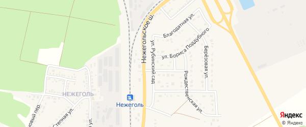 Улица Рубинский сад на карте Шебекино с номерами домов
