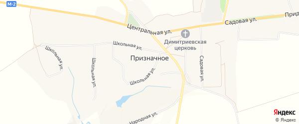 Карта Призначного села в Белгородской области с улицами и номерами домов