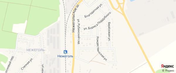 Донецкая улица на карте Шебекино с номерами домов