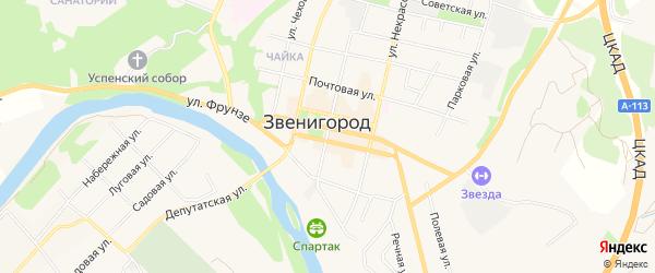 Территория СНТ Родон на карте Звенигорода с номерами домов