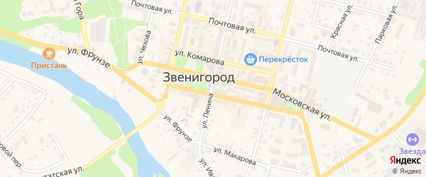Красноармейский переулок на карте Звенигорода с номерами домов