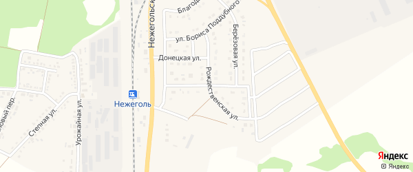 Улица А.Кудряшова на карте Шебекино с номерами домов