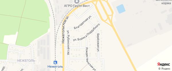 Улица Б.Поддубного на карте Шебекино с номерами домов