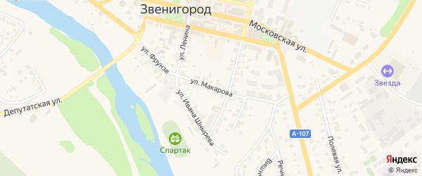 Улица Макарова на карте Звенигорода с номерами домов