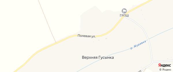 Полевая улица на карте хутора Верхней Гусынки с номерами домов