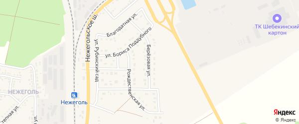 Березовая улица на карте Шебекино с номерами домов