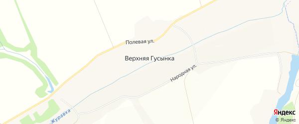 Карта хутора Верхней Гусынки в Белгородской области с улицами и номерами домов