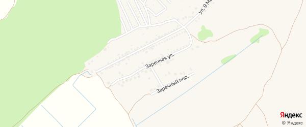 Заречная улица на карте Шебекино с номерами домов