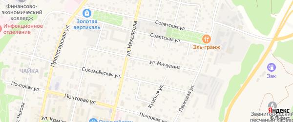 Улица Мичурина на карте Звенигорода с номерами домов
