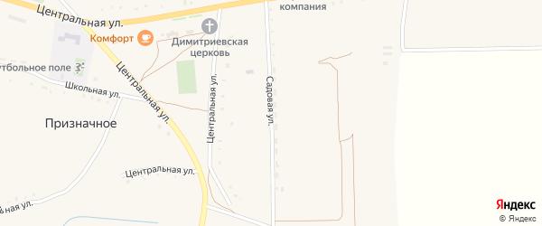Садовая улица на карте Призначного села с номерами домов
