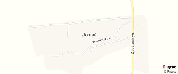 Дорожная улица на карте Долгого хутора с номерами домов