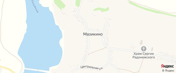 Центральная улица на карте села Мазикино с номерами домов